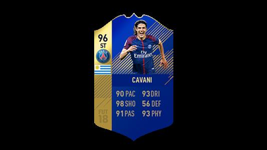 FIFA 18 Ligue 1 Team of the Season Cavani