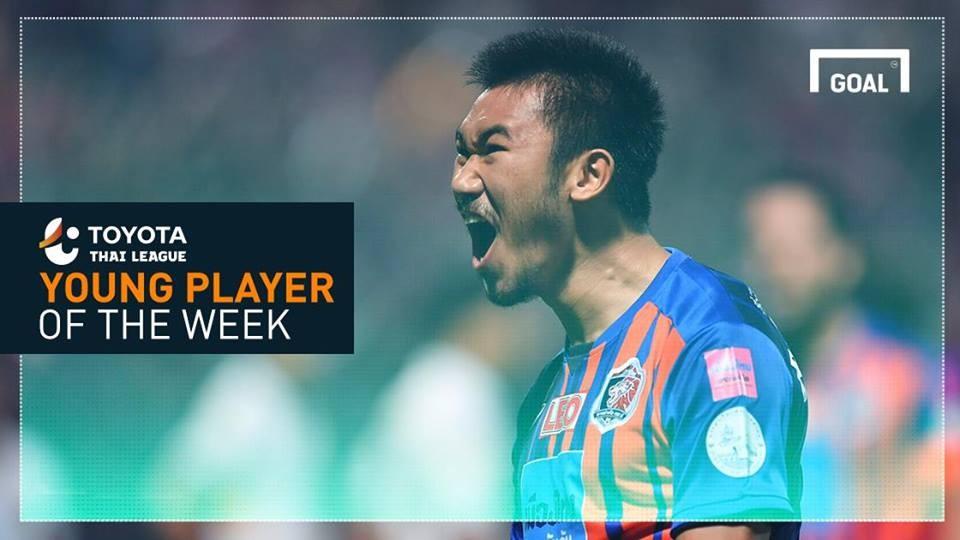 ผลการค้นหารูปภาพสำหรับ Toyota Thai League Young Player of the Week 5 : อาทิตย์ บุตรจินดา