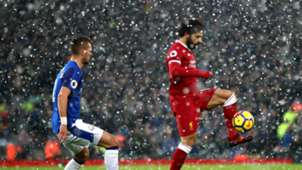 Morgan Schneiderlin Everton Mohamed Salah Liverpool snow
