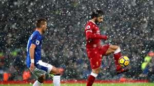 Morgan Schneiderlin Everton Mohamed Salah Liverpool snow