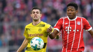 Christian Pulisic David Alaba Borussia Dortmund Bayern Munich