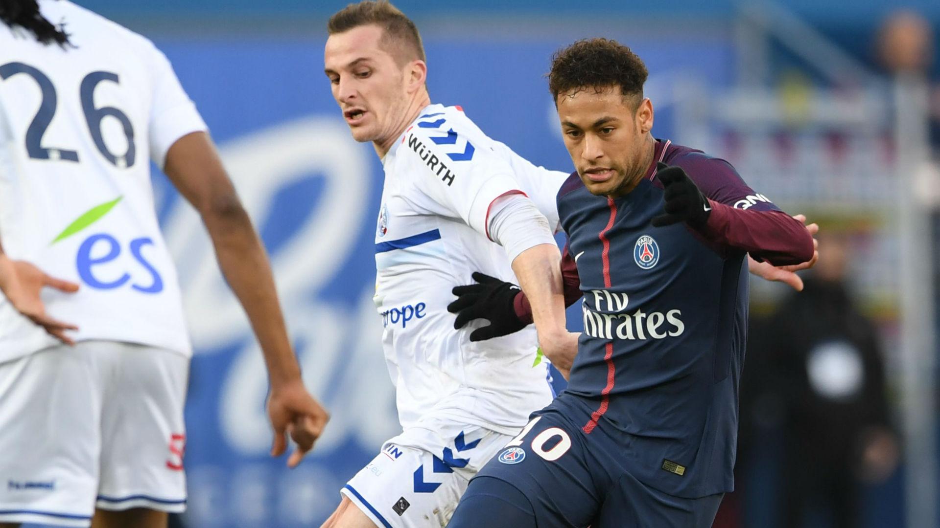 Neymar PSG Strasbourg Ligue 1 17022018