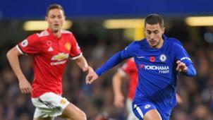 Eden Hazard Chelsea Nemanja Matic Manchester Unite