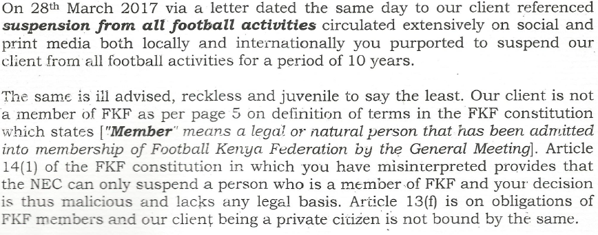 Nyamweya demand letter 1