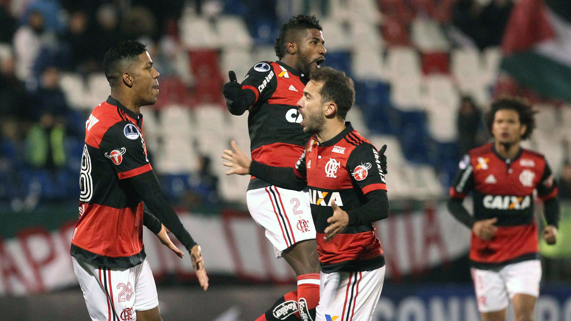Everton Ribeiro Orlando Berrio Rodinei Palestino Flamengo Copa Sudamericana