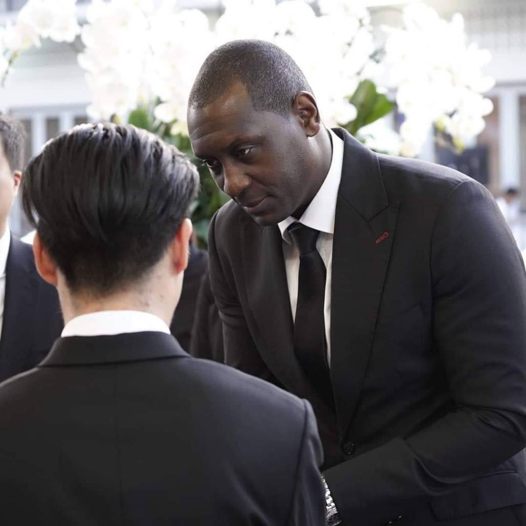 Heskey at Vichai's Funeral