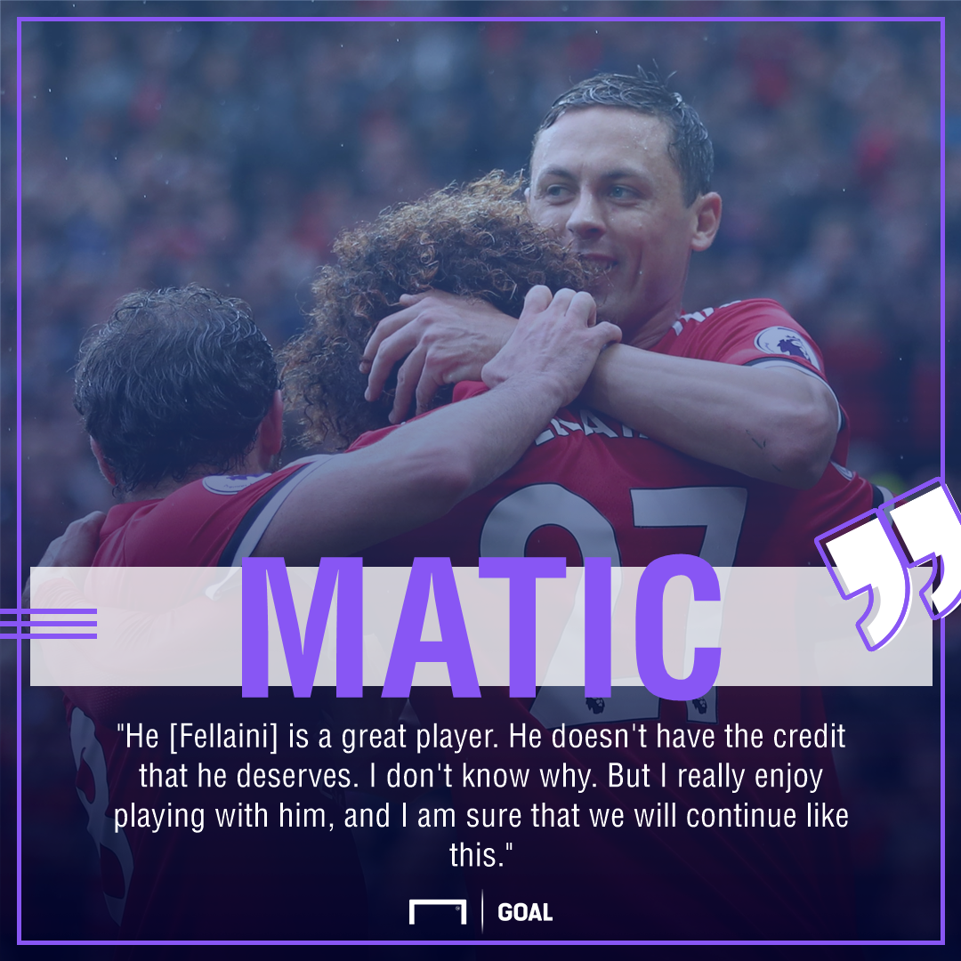 Nemanja Matic Marouane Fellaini Manchester United great player