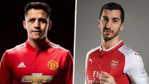 Alexis Sanchez Man Utd Henrikh Mkhitaryan Arsenal composite