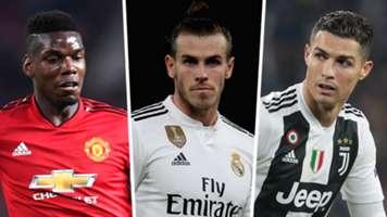 Paul Pogba Gareth Bale Cristiano Ronaldo