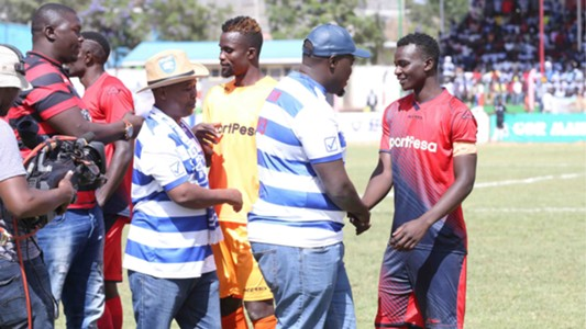 AFC Leopards chairman Dan Mule and Sakaja v Gor Mahia.