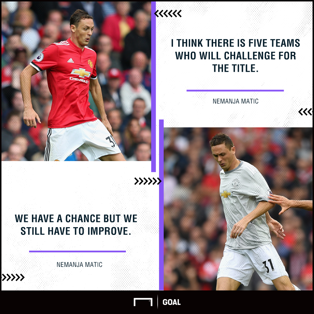 Nemanja Matic Manchester United must improve title race
