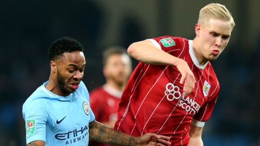 Raheem Sterling, Manchester City, Horour Magnusson, Bristol City