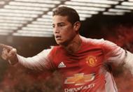 James Rodriguez Man Utd GFX HP