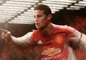 James Rodriguez Man Utd GFX HP