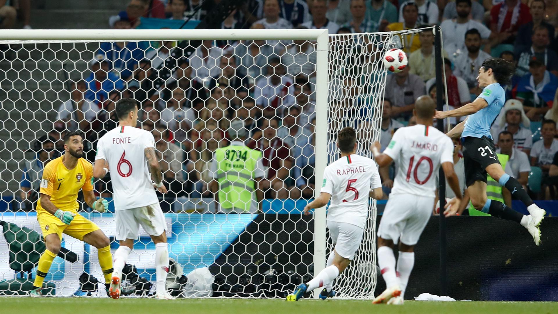 Edinson Cavani Uruguay World Cup Portugal Goal 300618