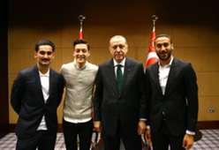 Erdogan, Özil, Gündogan, Tosun