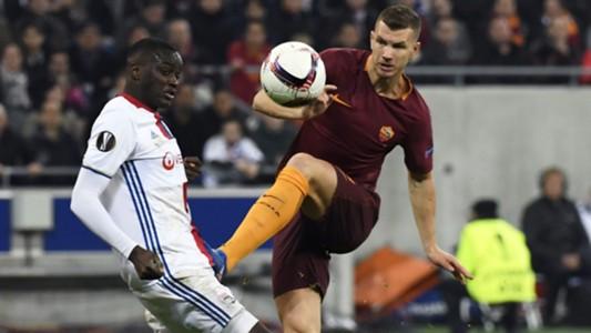 Edin Dzeko Lyon Roma Europa League