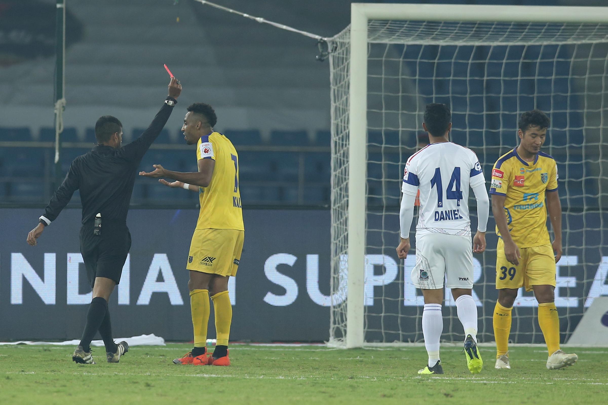 Lalruatthara red card Delhi Dynamos Kerala Blasters