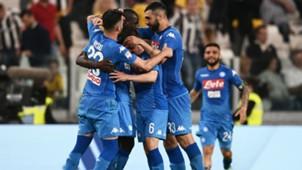 Kalidou Koulibaly celebrating Juventus Napoli Serie A 04222018