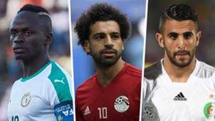 Sadio Mane Senegal Mohamed Salah Egypt Riyad Mahrez Algeria