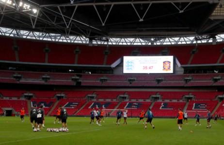 Entrenamiento España en Wembley