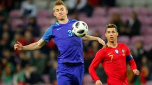 Matthijs de Ligt, Cristiano Ronaldo, Portugal - Netherlands 03262018