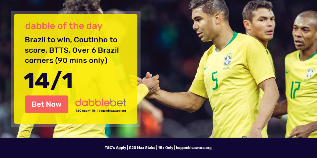 dabble of the day Brazil v Mexico
