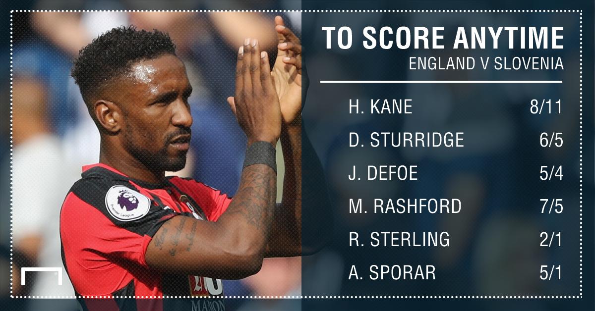 England Slovenia goalscorer graphic
