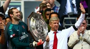 Petr Cech Arsene Wenger Arsenal Chelsea Community Shield