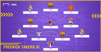 Freekick Takers Best XI
