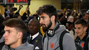 Barcelona arrive in South Africa, May 2018