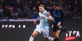 Andrea Ranocchia Ciro Immobile Inter Lazio Serie A