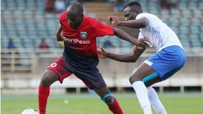 Whyvonne Isuza of AFC Leopards v Yusuf Muhammed of Sofapaka.