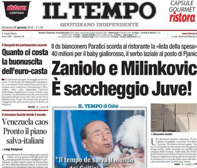Calciomercato Juventus, Milinkovic-Savic e Zaniolo 'svelati' dalla lista di Paratici