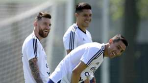 Lionel Messi Angel Di Maria Enzo Perez Argentina World Cup 2018