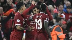 Roberto Firmino Mohamed Salah Sadio Mane Liverpool UCL 04242018