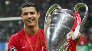 Cristiano Ronaldo Manchester United Champions League trophy