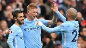 Bernardo Silva Kevin De Bruyne David Silva Manchester City