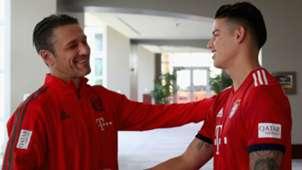 Niko Kovac James Rodriguez Bayern Munchen