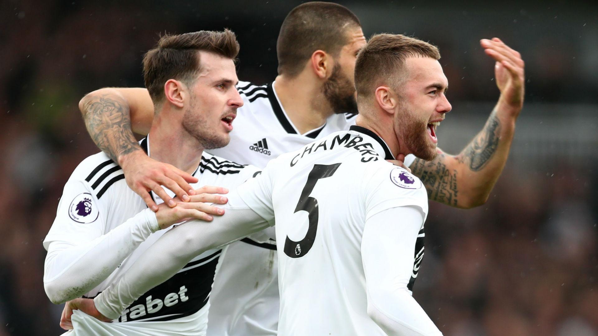 Fulham celebrate vs Chelsea