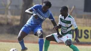 Nakumatt striker Kepha Aswani v Nzoia Sugar.
