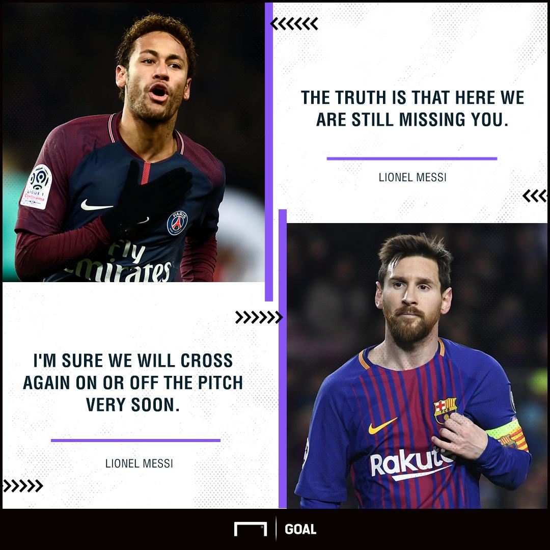 Lionel Messi Neymar Barcelona missing you