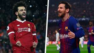 Mohamed Salah Lionel Messi Split