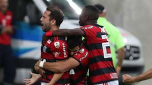 Everton Ribeiro Vinicius Junior Henrique Dourado Flamengo Emelec Copa Libertadores 16052018