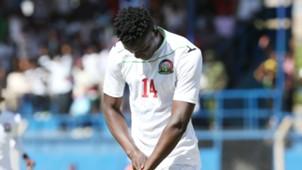 Kenya striker Michael Olunga celebrates