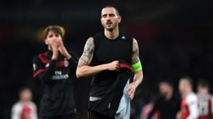 Leonardo Bonucci Arsenal Milan Europa League