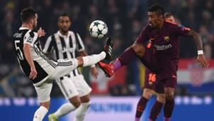 Pjanic Paulinho Juventus Barcelona Champions League