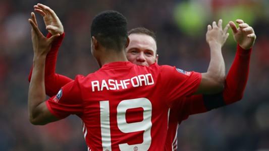 Marcus Rashford Wayne Rooney Manchester United