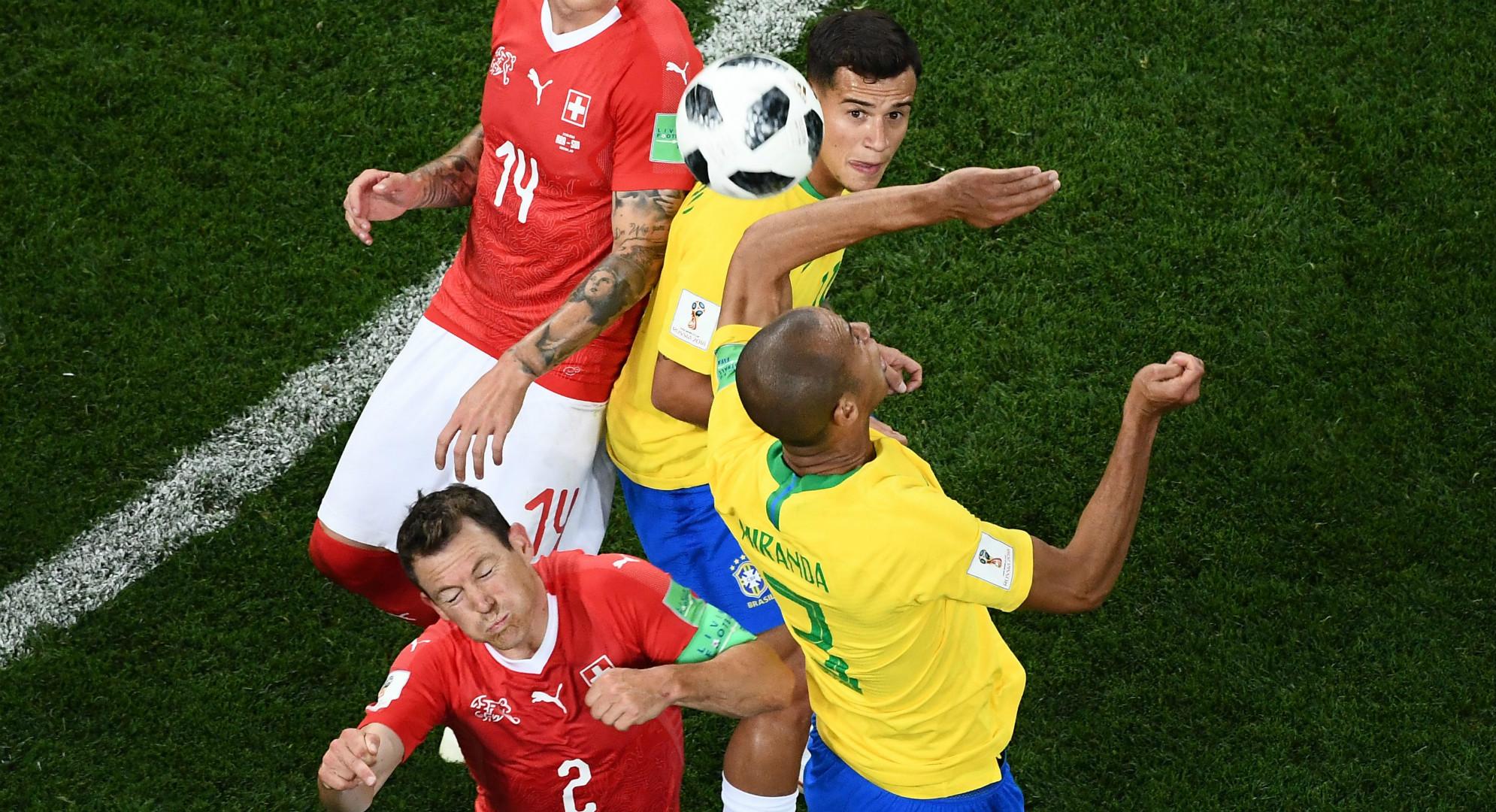 Zuber Miranda Brasil Suiza Copa del Mundo 2018