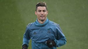 Cristiano Ronaldo Real Madrid Champions League training session